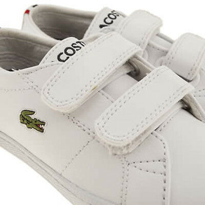 Lacoste Marcel FRA Toddler Twin strap easy fit Toddler baby Trainers In White