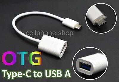 Type-C to USB-A OTG Adapter Extand Cable 20 cm for HTC 10 / LG Google nexus 5X