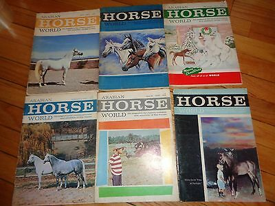 Arabian Horse World Magazine Lot 11 Issues from 1965