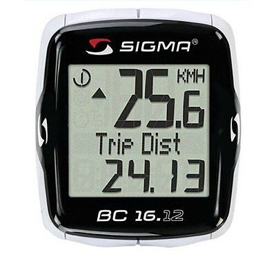 SIGMA BC16.12 Bike Computer & Cadence Speedometer Bicycling Backlit Temperature