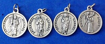 Lot 4 Archangel St Medals Michael Gabriel Raphael Guardian Angel Saint Italy