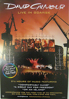 David Gilmour Live In Gdansk New double sided poster display Pink Floyd