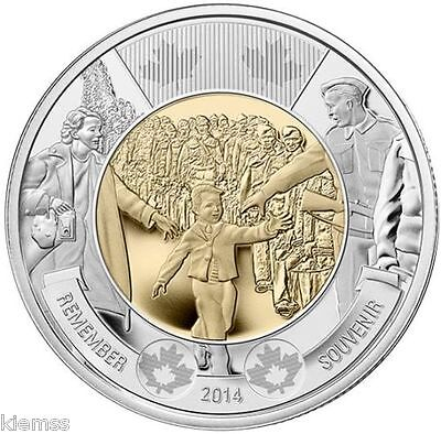 2014 Canada  $2 Wait For Me Daddy. BU Condition.  Uncirculating . Sealed