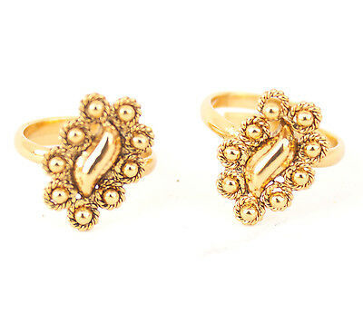 Bollywood Fashion Resizable Bridal Toe Ring Gold Plated Indian Ethnic Jewelry