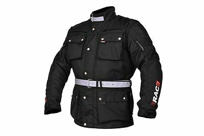 RAC3 Men Motorcycle Motorbike Jacket Waterproof Textile Cordura Armored New