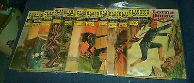 Classics illustrated 11 issues silver age comics lot run set collection movie