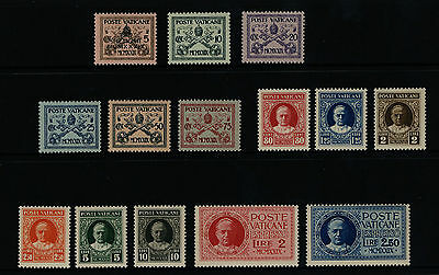 Stamps VATICAN 1929 Definitives - 1-13 (missing #5) + E1 & E2  MNH **