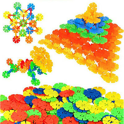400X Plastic Snowflake Building Pre-Educational Puzzle Toy For Children new UK
