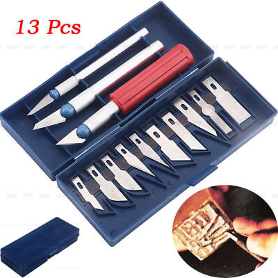 1 Set/13Pcs Multi-Purpose Exacto Style Hobby Knife For Crafts Art Cutting Tool