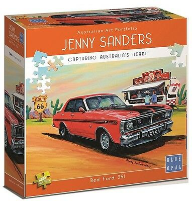 NEW Blue Opal Jigsaw Puzzles Deluxe 1000 Piece RED FORD 351 by Jenny Sanders