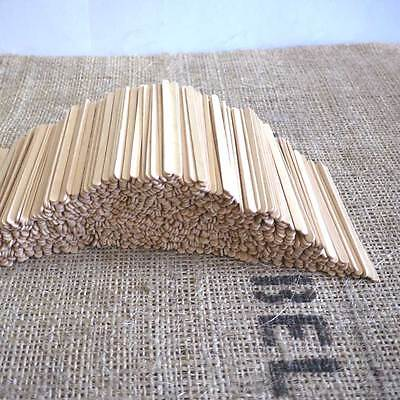 3000pcs Wooden Coffee Tea Stirrers Paddle Pop Sticks Craft  Disposable Kids