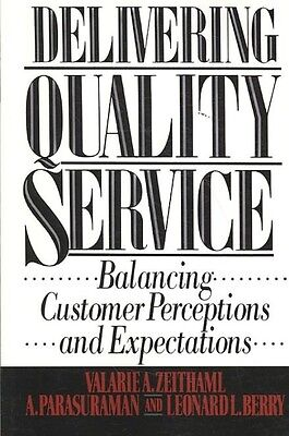 Delivering Quality Service by Valarie A. Zeithaml Paperback Book (English)