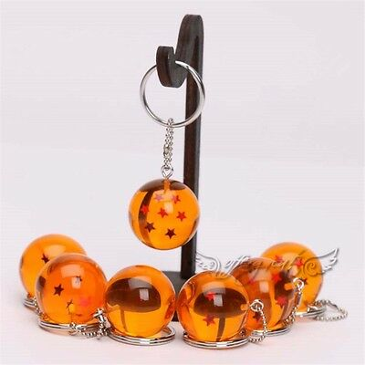 1PC Dragon Ball Z Cosplay Crystal Ball Keychain DBZ Pendant Keyring Random Ship