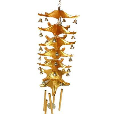 Chinese 7-Layer Roof Bell Lucky Hanging Wind Chime Outdoor Feng Shui Decor