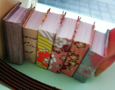 Miniature book FLORAL PRINT (select one) dollhouse unique hardcover nice