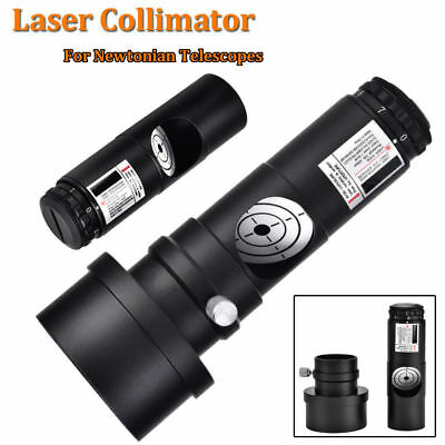 "Black 1.25"" Laser Collimator + 2"" Adaptor 7 Bright Level for Newtonian Telescope"