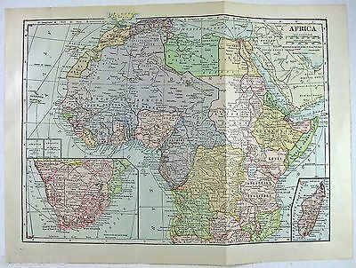 Vintage Original 1923 Map of Colonial Africa