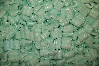 Packing Peanuts Loose Fill 8 Cubic Feet 60 Gallons Green Free Shipping Brand New