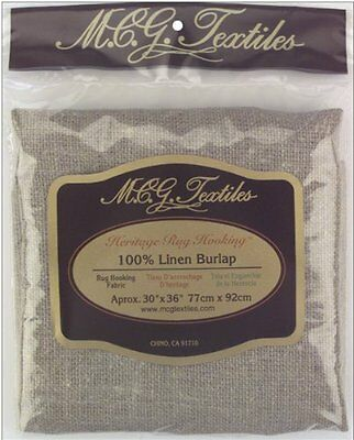 M.C.G. Textiles Fabric For Rug Hooking Punch Needle Linen Burlap Fabric Cut New