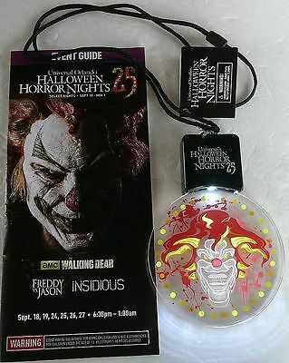 2015 Hhn Universal Halloween Horror Night Jack Clown Lighted Animated Lanyard