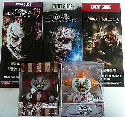 2015 Hhn Halloween Horror Night 2013 Jack Zombie Clown Ringmaster Figure +Guides
