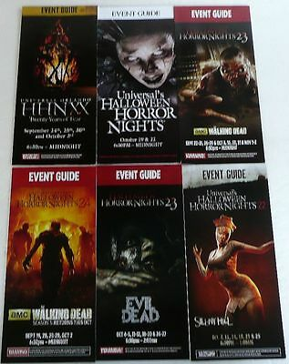 Hhn Universal Studio Halloween Horror Night 6 Event Guides 2008 10 12 13 14 New