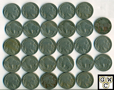 1918 Buffalo Nickels About Good-Good  (Lot of 28 coins)