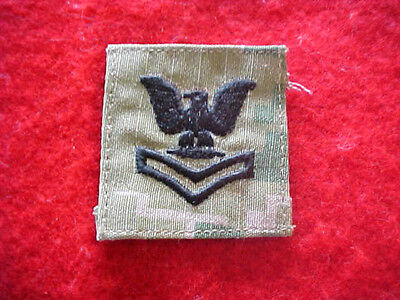 US Navy Type III Type 3 Green Digital  E-5 cap patch for cover