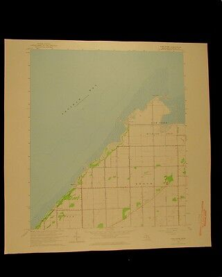 Fish Point Michigan vintage 1964 original USGS Topographical chart