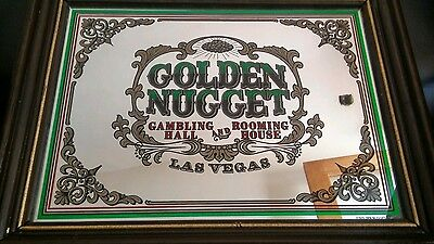 Vintage Golden Nugget Las Vegas Sign Rare, perfect for collectors or man cave.