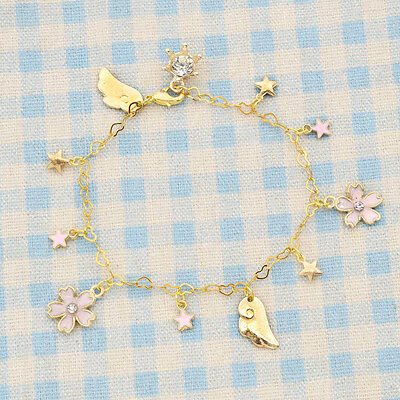 Girl Star Bracelet Gifts Card Captor Sakura Pink Japanese Anime Kawaii Pendant