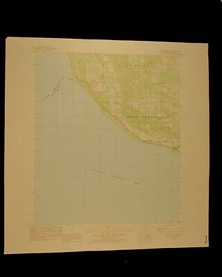 Forest Beach Michigan vintage 1984 original USGS Topographical chart