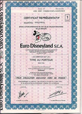 2 different. French bond Euro Disneyland S.C.A. with coupons France