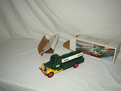 "Nice 1985 Hess ""First Toy Truck"" Bank In The Original Box Lot #u-70"