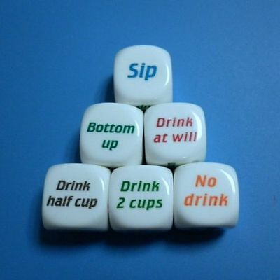 Drinking Decider Die Games Bar Party Pub Dice Fun Funny Toy Game Xmas Gift US