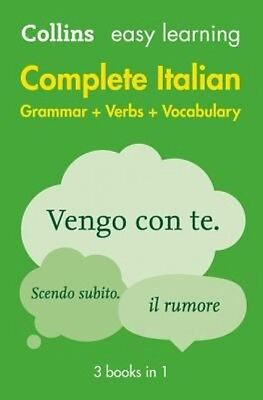 Easy Learning Complete Italian Grammar, Verbs and Vocabulary (3 Books in 1) by C