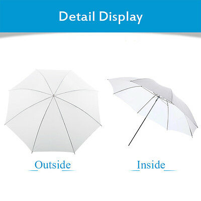 "Photo Studio Flash Translucent White Soft Umbrella Light Softbox 33"" UK"