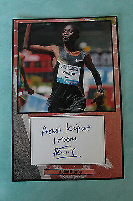 Asbel Kiprop middle-distance runner signed  Autograph 20 cm x 30cm