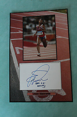 Ezinne Okparaebo Norwegian track and field sprint signed  Autograph 20 cmx 30cm