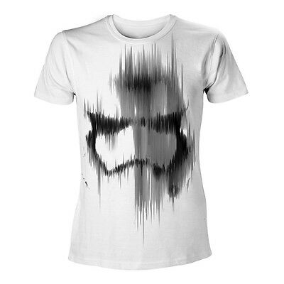 STAR WARS VII The Force Awakens Adult Male Distressed Stormtrooper T-Shirt M Wht