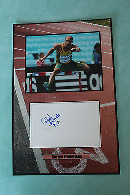 Cornel Fredericks South African track and field signed  Autograph 20 cmx 30cm