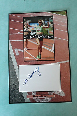 Morgan Uceny signed American runner Autograph 20 cmx 30cm