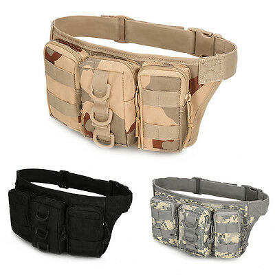 Portable Waterproof Tactical Waist Bag Pack Outdoor Camping Hiking Pouch Bag RI