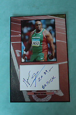 Marco Fortes male shot putter from Portugal Autograph signed 20 cmx 30cm