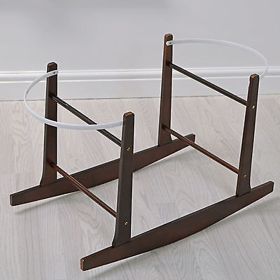 New 4Baby Cocoa Moses Basket Wooden Rocking Stand