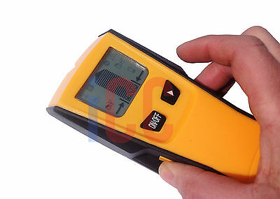 Wall Stud Center Finder Metal Ac Live Wire Detector 3In1 Wood Copper Cable Lcd