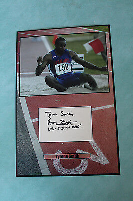 Tyrone Smith  Bermudian born long jumper Autograph signed 20 cm x 30cm