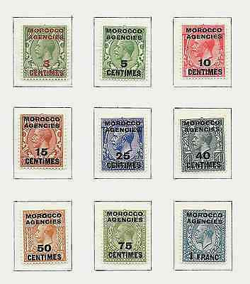 1917-24  Full Set Of 9 Sg191-199 Fine Unmounted Mint  Mnh See Scan