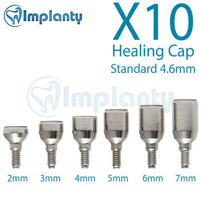 10 Standard Healing Cap 4.6mm  Dental Abutment internal Hex Fit Alpha Bio Mis