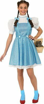 Rubies Costume Wizard Of Oz Adult Dorothy Dress & Hair Bows Blue/White Large Rub